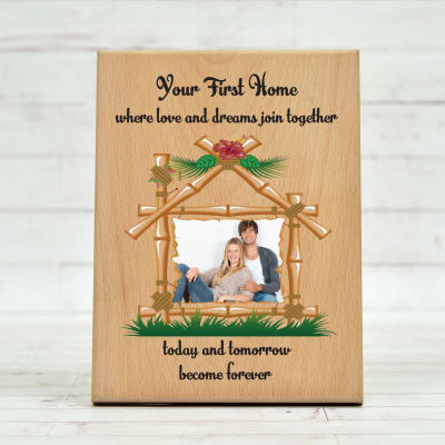 Personalized First Home Special Wooden Photo Frame