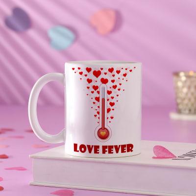 Personalized Flying Hearts Ceramic Mug
