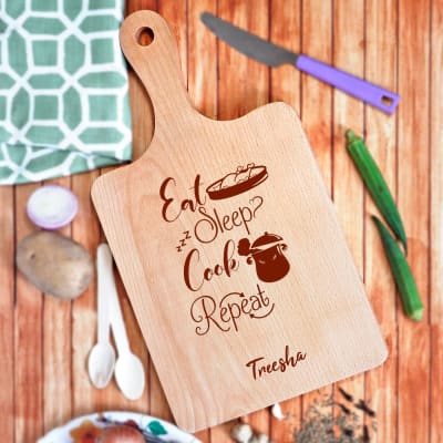 Personalized Foodie Wooden Chopping Board