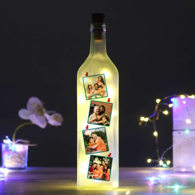 Personalized Frosted LED Bottle Lamp