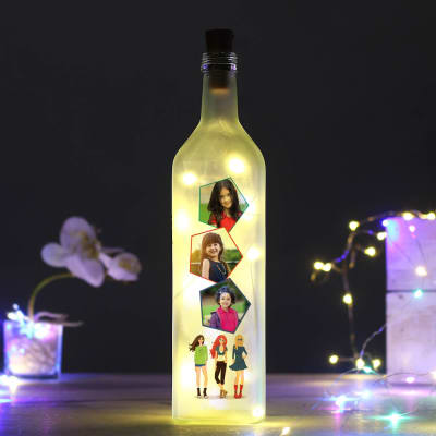 Personalized Frosted LED Bottle Lamp for Girls