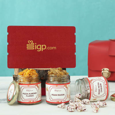 Personalized Gift Hamper With Flavoured Dry Fruits in PVC Bag