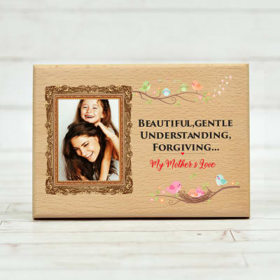 Personalized Glorious Wooden Plaque For Mother 7 X 5 Inches