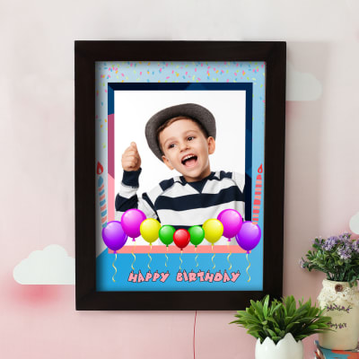 Personalized Happy Birthday A3 Photo Frame for Boys