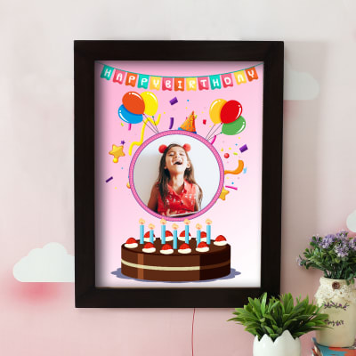 Personalized Happy Birthday A3 Photo Frame For Girls