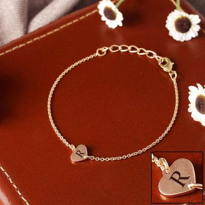 Personalized Heart Shaped Bracelet