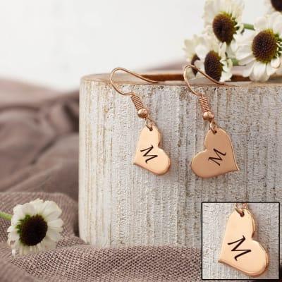Personalized Heart Shaped Earrings