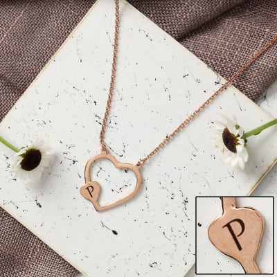 Personalized Heart Shaped Pendant with Chain