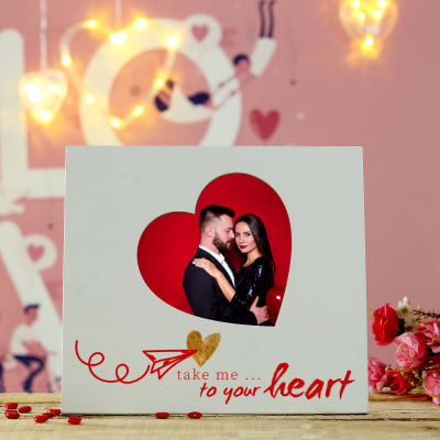 Personalized Heart-shaped Photo Frame