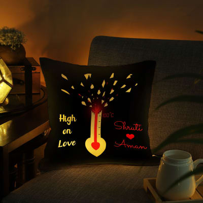 Personalized High On Love Cushion