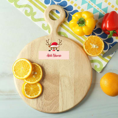 Personalized Holiday Special Wooden Chopping Board