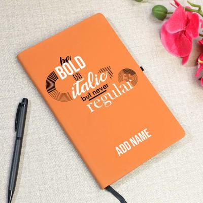 Personalized Italian Soft PU Notebook