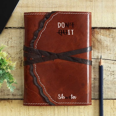 Personalized Journal in Dark Brown