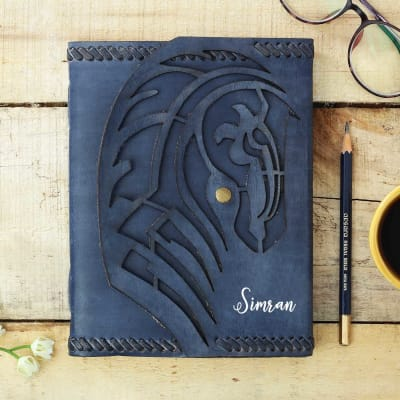 Personalized Journal with Leather Cover