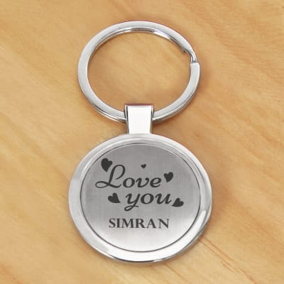 Personalized Keychain with Love Message