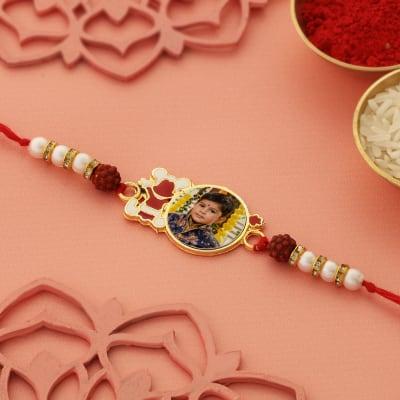 Personalized Kid's Photo Rakhi in Gift Box