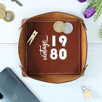Personalized Leather Desk Organizer