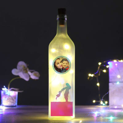 Personalized LED Bottle Lamp for Mom