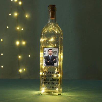 Personalized LED Photo Bottle for Father