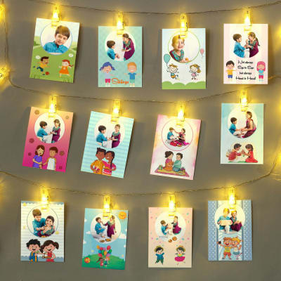 Personalized LED Photo String Light Wall Decor for Kids