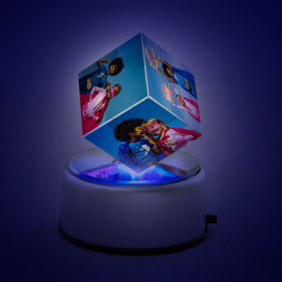 Personalized LED Rotating Crystal Cube for Kids