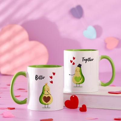 Personalized Love Ceramic Mug (Set of 2)
