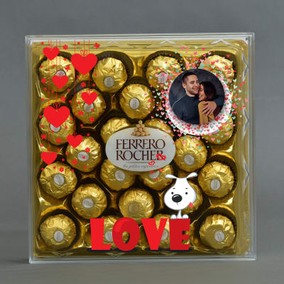 Personalized Love Special Pack of Ferrero Rocher Chocolates