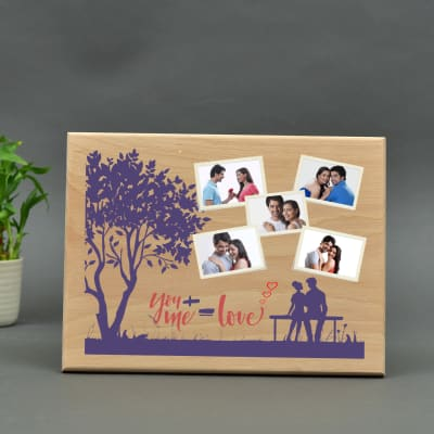 Personalized Love You Wooden Plaque