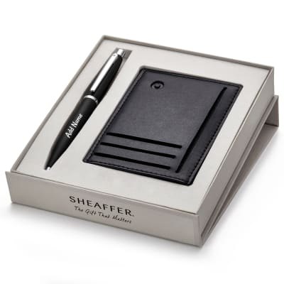Personalized Luxury Pen and Credit Card Holder Gift Set