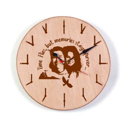 Personalized Memories Stay Forever Wooden Wall Clock