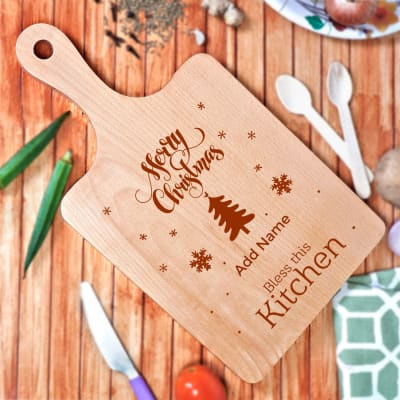 Personalized Merry Christmas Chopping Board