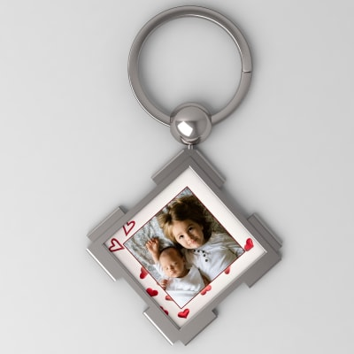 Personalized Metal Square Keychain
