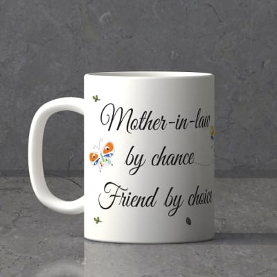 Personalized Mother In law White Mug