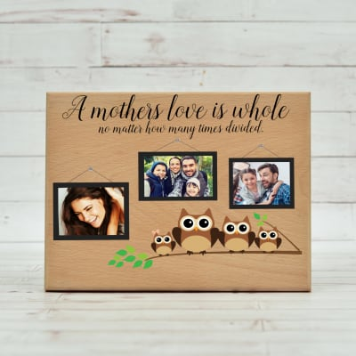 Personalized Mothers Love Wooden Plaque 10 X 75 Inches