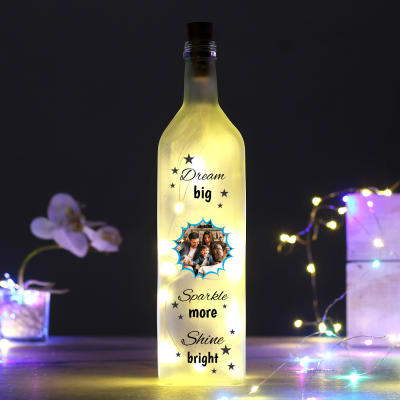 Personalized Motivational Quote Yellow Led Bottle