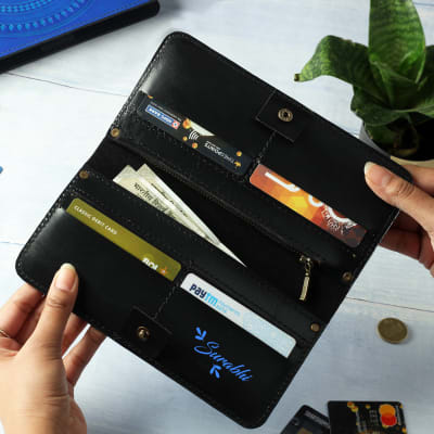 Personalized Multi-use Leather Wallet