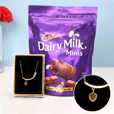 Personalized Necklace with Cadbury Dairy Milk