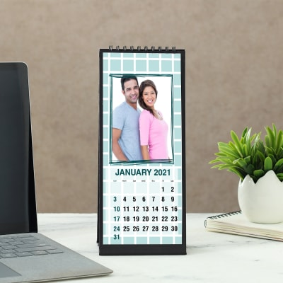 Personalized New Year Calendar in Black