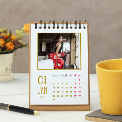 Personalized New Year Calendar in Yellow