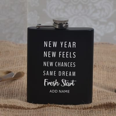 Personalized New Year Hip Flask