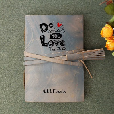 Personalized New Year Leather Journal