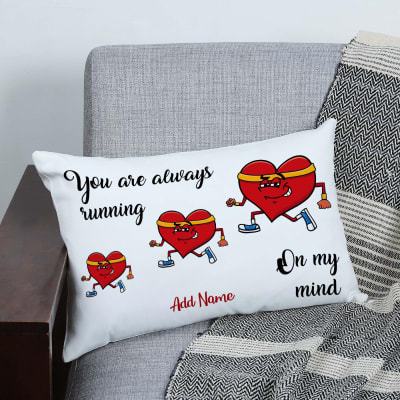 Personalized On My Mind Romantic Canvas Pillow