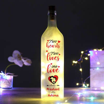 Personalized One Love LED Bottle Lamp