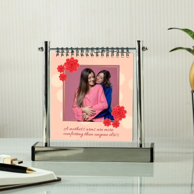 Personalized Photo Album with Metal Stand for Mom