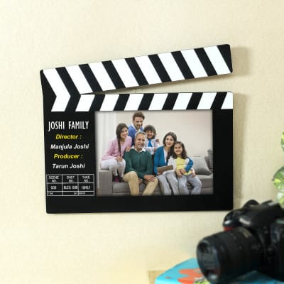 Personalized Photo Frame in Clapperboard Design