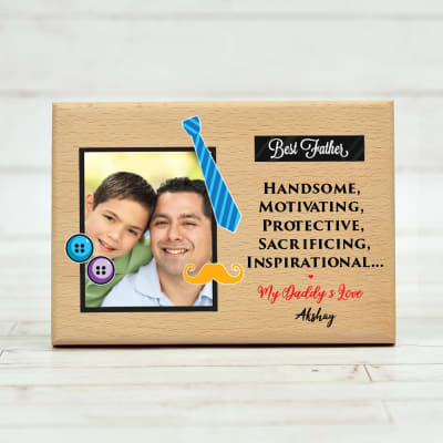 Personalized Photo Frame with Message for Dad