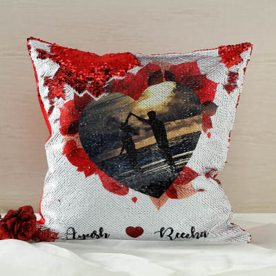 Personalized Photo Sequin Cushion