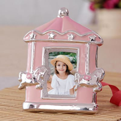 Personalized Pink Kids Photo Frame