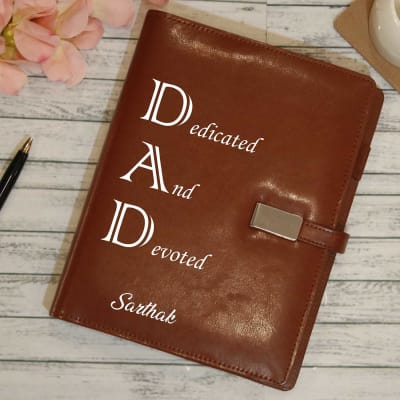 Personalized Power Bank Cum Diary For Dad