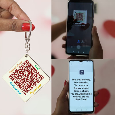 Personalized Qr Code Keychain For Friend